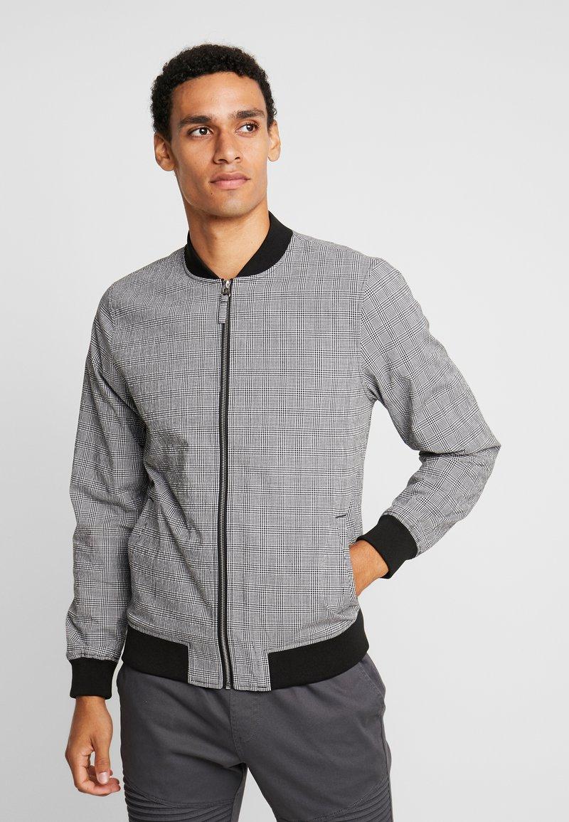 Burton Menswear London - BOLD CHECK  - Bomber Jacket - black
