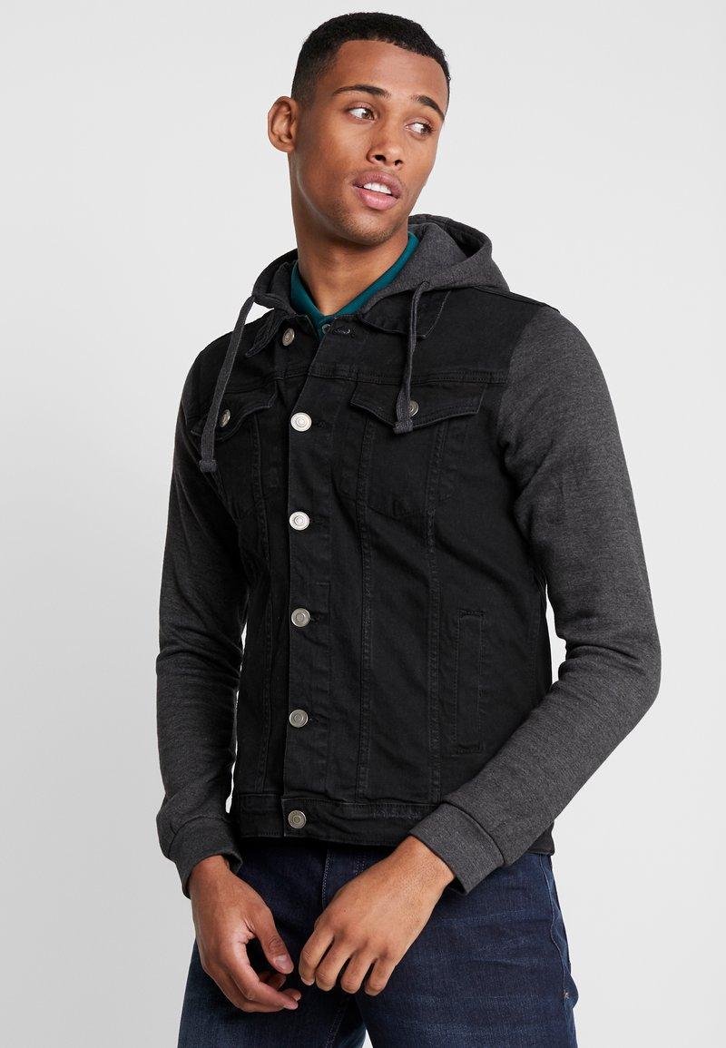 Burton Menswear London - HOODED  - Spijkerjas - black