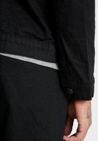 Burton Menswear London - BORG - Džínová bunda - black - 3