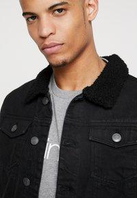 Burton Menswear London - BORG - Džínová bunda - black - 5