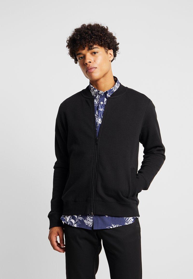 Burton Menswear London - NEW BLACK BOMBER - Zip-up hoodie - black