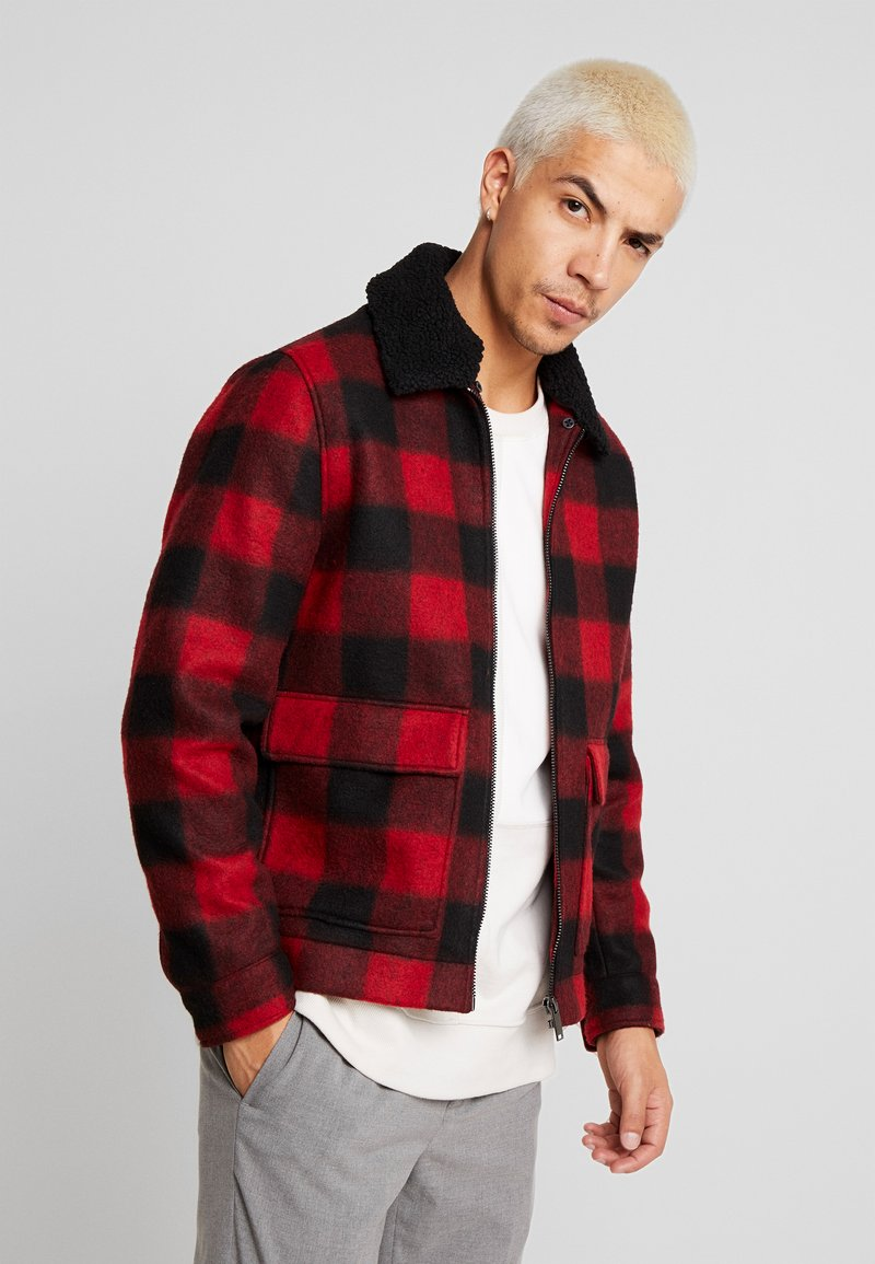 Burton Menswear London - BUFF BORG - Leichte Jacke - red
