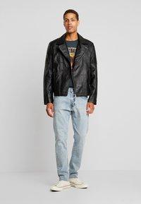 Burton Menswear London - BLACK BIKER - Faux leather jacket - black - 1