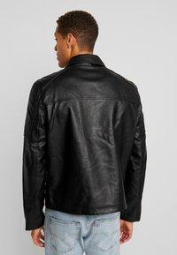 Burton Menswear London - BLACK BIKER - Faux leather jacket - black - 2