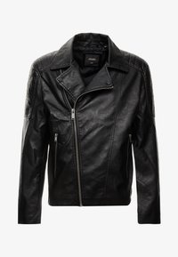 Burton Menswear London - BLACK BIKER - Faux leather jacket - black - 5