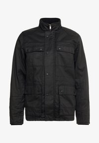 Burton Menswear London - WAX POCKET - Välikausitakki - black - 4
