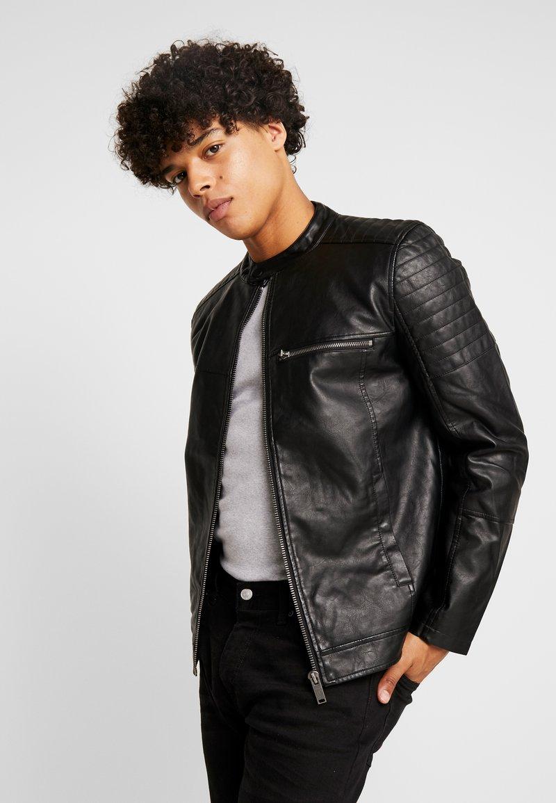 Burton Menswear London - RACER - Kunstlederjacke - black