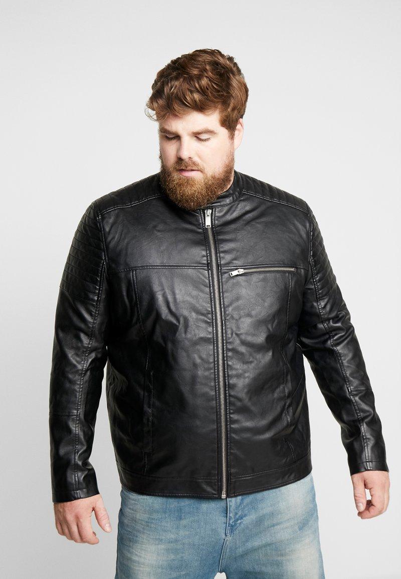Burton Menswear London - Kunstlederjacke - black