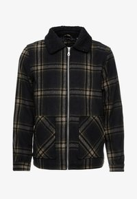 Burton Menswear London - CHECKBORG COLLAR SHACKETS - Giacca leggera - navy - 4