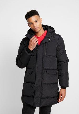 LONGLINE PUFFER - Kabát zprachového peří - black