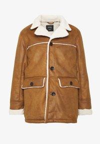 Burton Menswear London - DELBOY  - Faux leather jacket - brown - 4