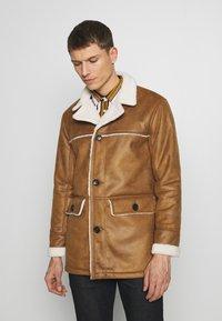 Burton Menswear London - DELBOY  - Faux leather jacket - brown - 0