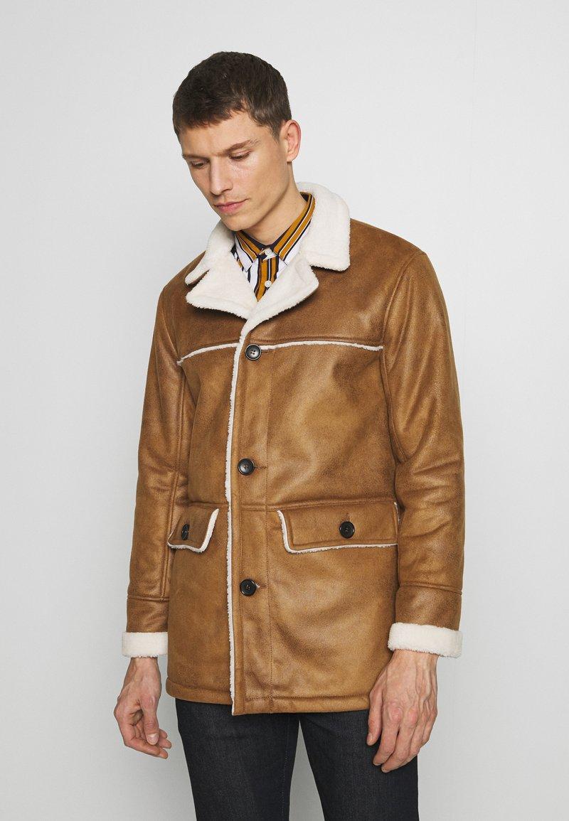 Burton Menswear London - DELBOY  - Faux leather jacket - brown