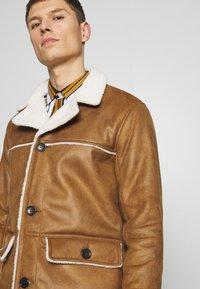 Burton Menswear London - DELBOY  - Faux leather jacket - brown - 3