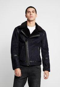 Burton Menswear London - BIKER - Veste en similicuir - black - 3
