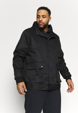 BIG HOOD TRIM JACKET - Lehká bunda - black