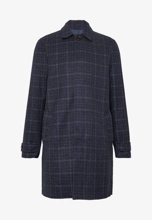 CHECK LIGHTWEIGHT CARCOAT - Short coat - navy