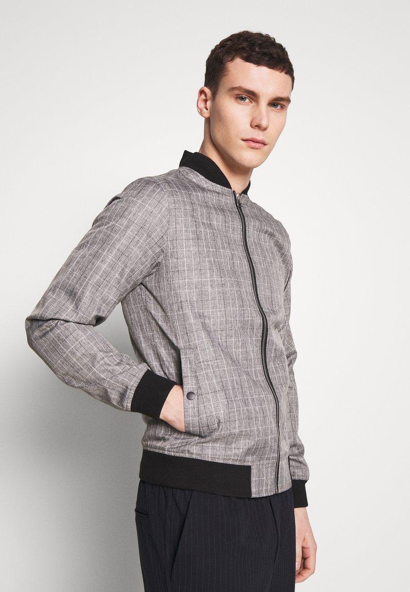 Burton Menswear London - MARL CHECK  - Bomberjacks - grey