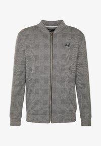 Burton Menswear London - CHECK BOMBER - Huvtröja med dragkedja - grey - 3
