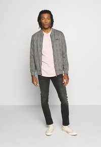 Burton Menswear London - CHECK BOMBER - Huvtröja med dragkedja - grey - 1