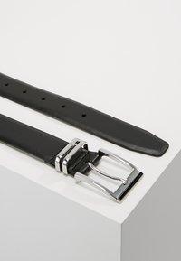 Burton Menswear London - DOUBLE KEEPER - Belt business - black - 2