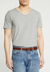 Burton Menswear London - TEXT BUCKLE - Pasek - brown - 1