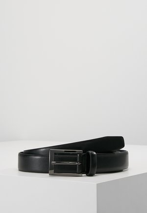 TEXT BUCKLE - Cinturón - black