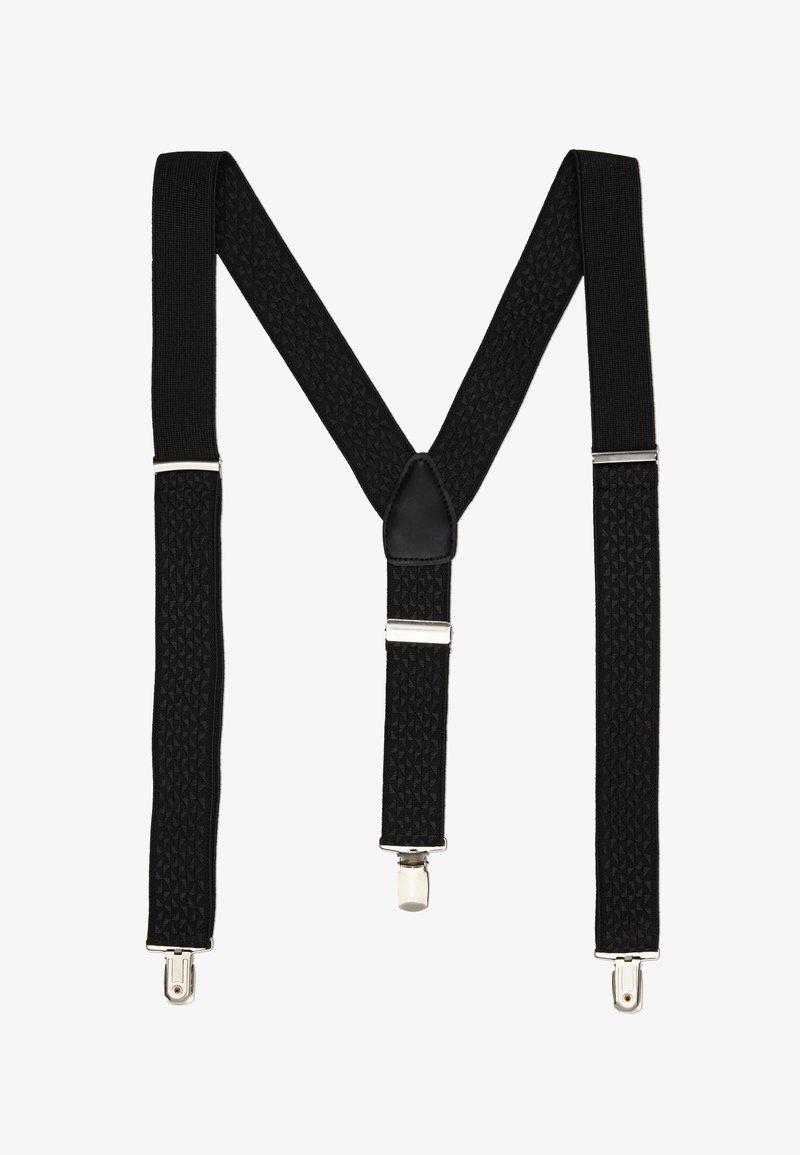 Burton Menswear London - BLACK TEXTURED BRACE - Accessoires Sonstiges - black