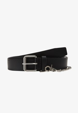 BELT WITH CHAIN - Pásek - black