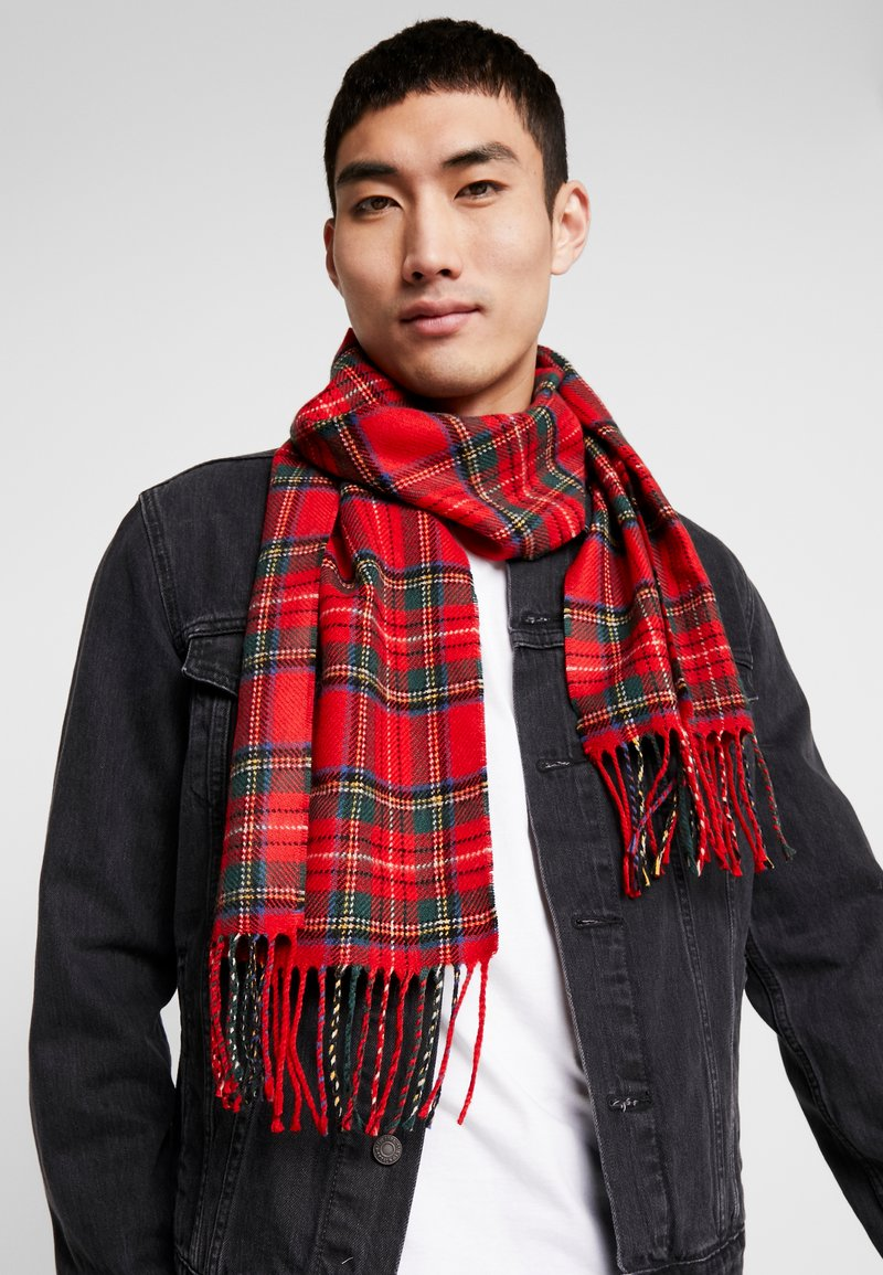 Burton Menswear London - TARTAN SCARF - Halsduk - red