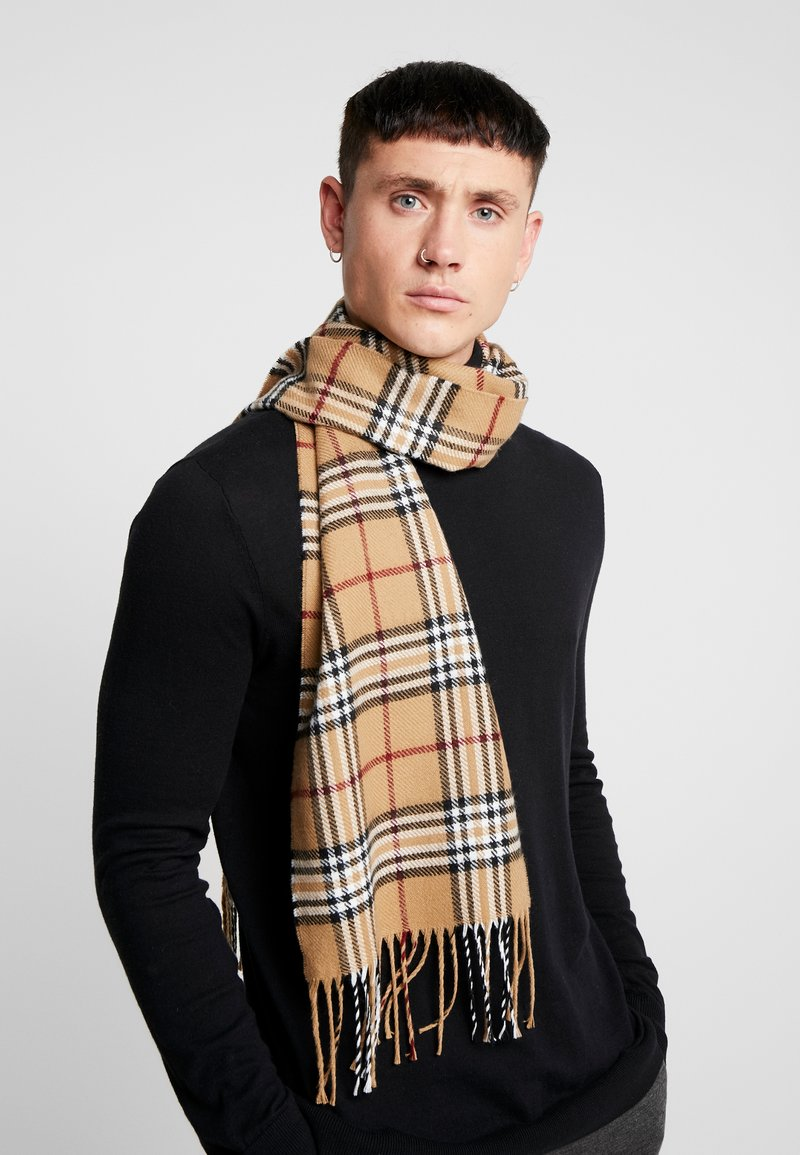 Burton Menswear London - CAMEL CHECK  - Halsduk - brown