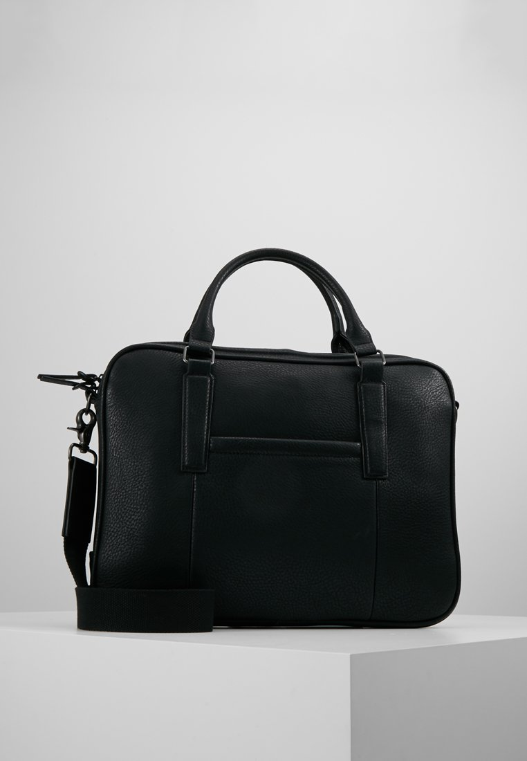 Burton Menswear London - MESSENGER WITH TOPHANDLE - Aktówka - black