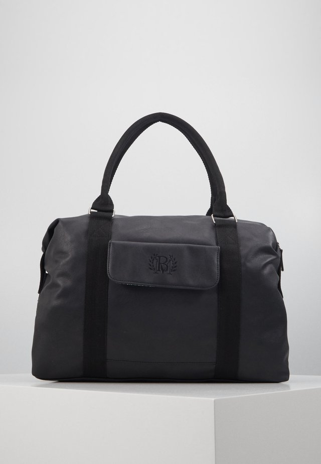 HOLDALL WITH CHECKED LINING - Weekender - black