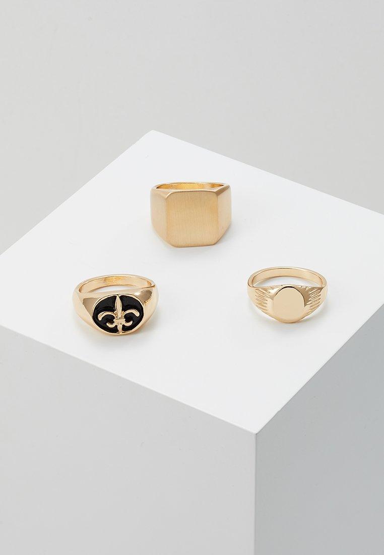 Burton Menswear London - SIGNET 3 PACK - Anillo - gold-coloured