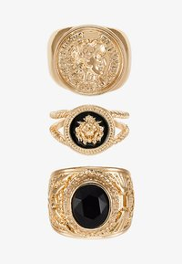 Burton Menswear London - LION HEAD RING SET - Ring - gold-coloured - 3