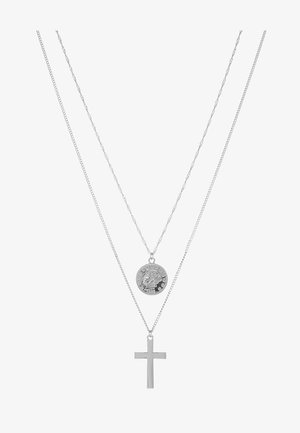COIN & CROSS MULTI ROW 2 PACK  - Halskette - silver-coloured