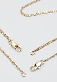 Burton Menswear London - COIN & CROSS MULTI ROW 2 PACK  - Necklace - gold-coloured - 2