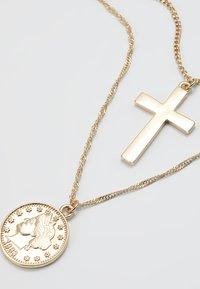 Burton Menswear London - COIN & CROSS MULTI ROW 2 PACK  - Necklace - gold-coloured - 4