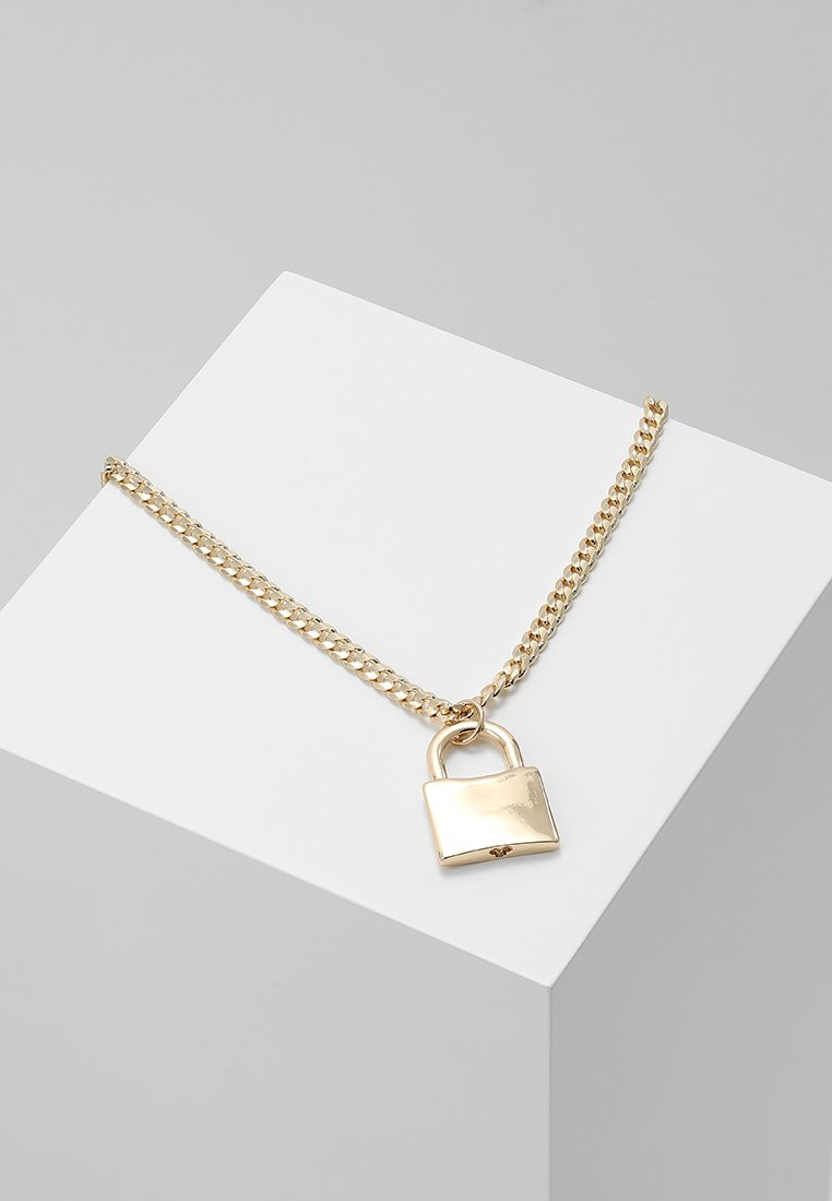 Burton Menswear London - PADLOCK - Necklace - gold-coloured