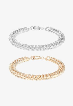 COIN BRACELET 2 PACK - Armband - silver-coloured/gold-coloured