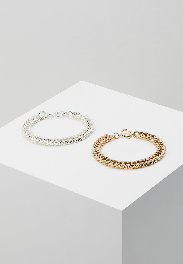 COIN BRACELET 2 PACK - Armbånd - silver-coloured/gold-coloured
