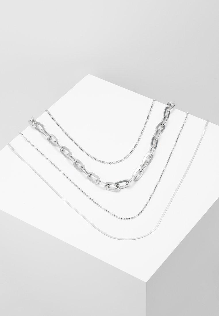 Burton Menswear London - ALLOT CHAIN 4 PACK - Collar - silver-coloured