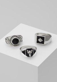 Burton Menswear London - ANIMAL MEGA SET - Prsten - silver-coloured - 0