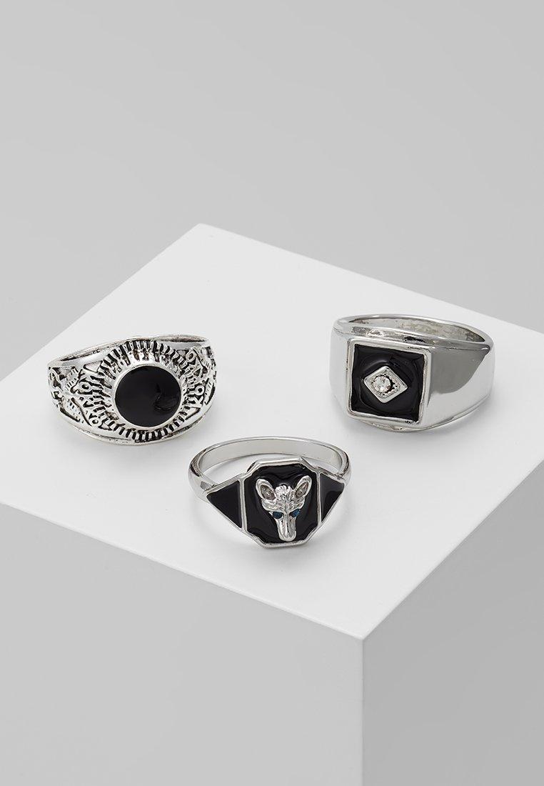 Burton Menswear London - ANIMAL MEGA SET - Prsten - silver-coloured