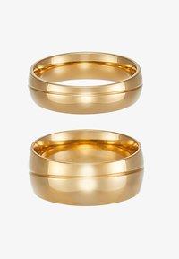 Burton Menswear London - LINE BAND RING 2 PACK - Prsten - gold-coloured - 3