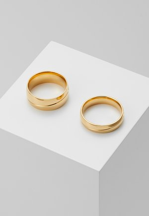 LINE BAND RING 2 PACK - Ring - gold-coloured