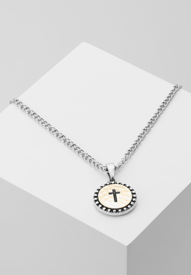 CROSS COIN NECKLACE - Collar - mixed metal