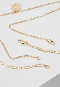 Burton Menswear London - CROSS AND DISC CHAIN MULTIROW - Collana - gold-coloured - 2