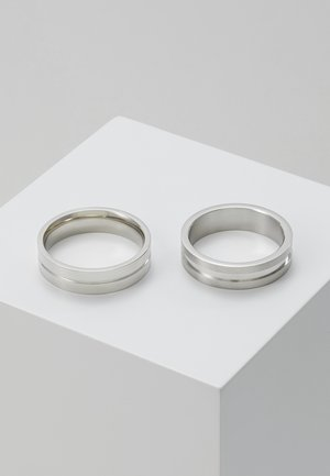 LINE BAND SET - Anillo - silver-coloured