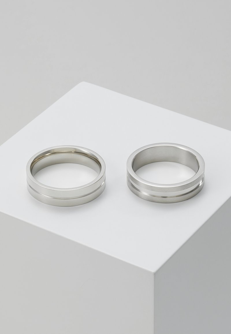 Burton Menswear London - LINE BAND SET - Ringe - silver-coloured